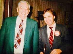Kor-Pak founder Jim Koralik (right) alongside Scan-Pac founder Skip Scandrett (left)