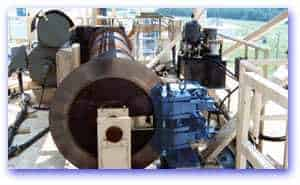 Hydraulic Caliper Lever Brake used on log handling crane