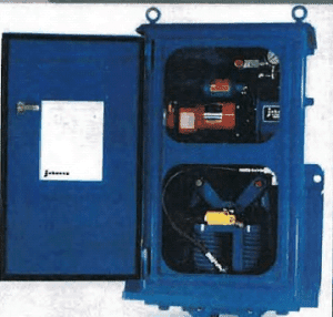 Self-Contained Storm Brake with Integral Power Unit