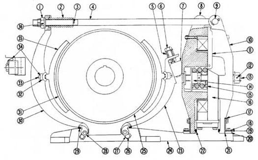 Distributor Of Cutler Hammer Gh505 Crane Brakes Kor Pak
