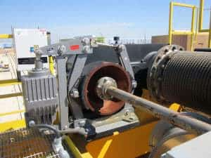 Spring-Set Electro-Hydraulic Thruster Brake on Main Hoist