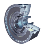 Dry running multi-disc clutch: Stromag hydraulic-pneumatic Clutches