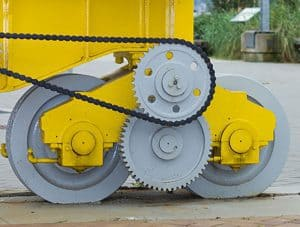 Indsutrial Crane Wheels in use