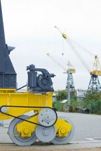 Cranes on Dry dock - crane wheels