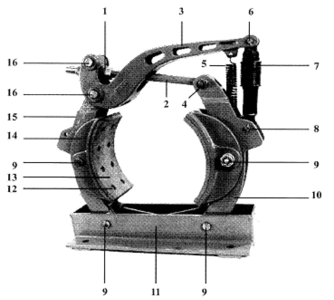 14 X 6 TYPE H BRAKE, J-929 (Old Style)