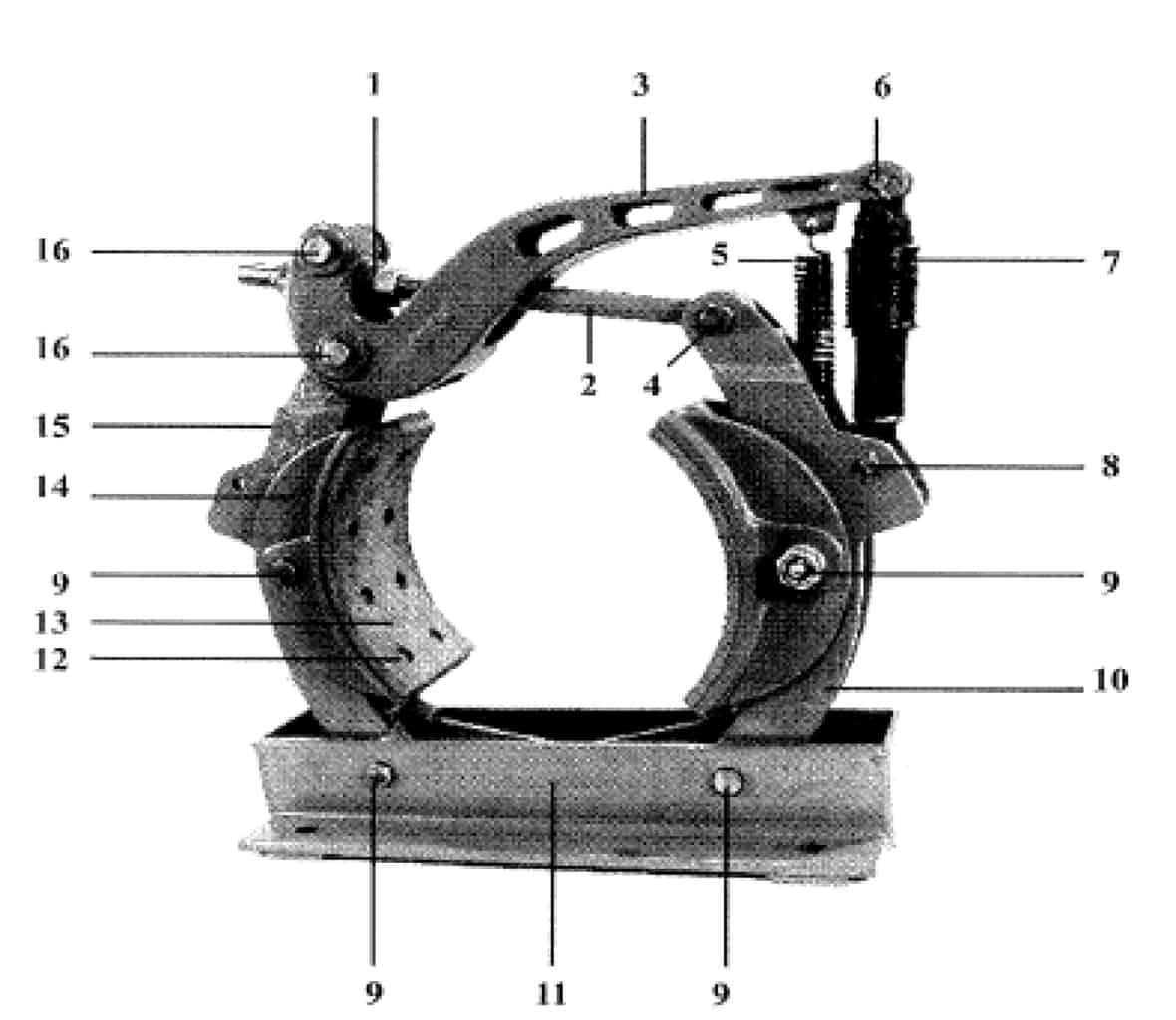 18 X 8 TYPE H BRAKE, J-2932 (Old Style)