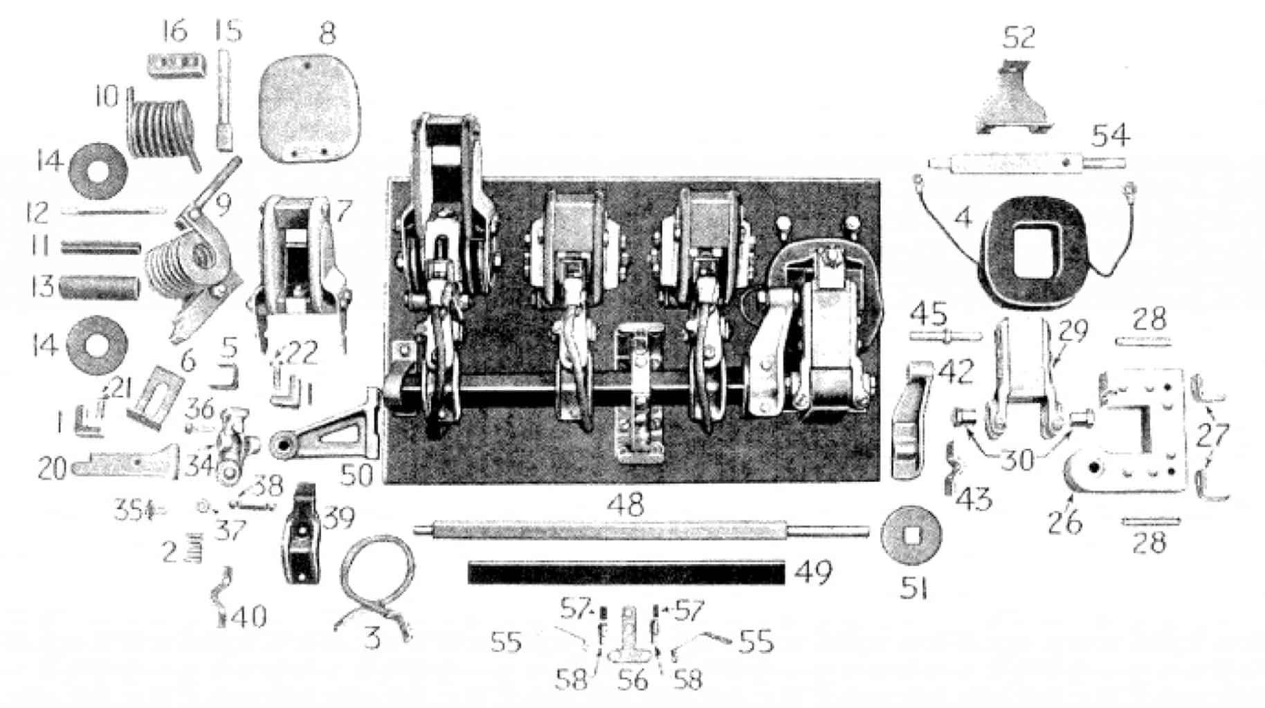 D.C. MAGNETIC CONTACTOR FORM 100-3L3A