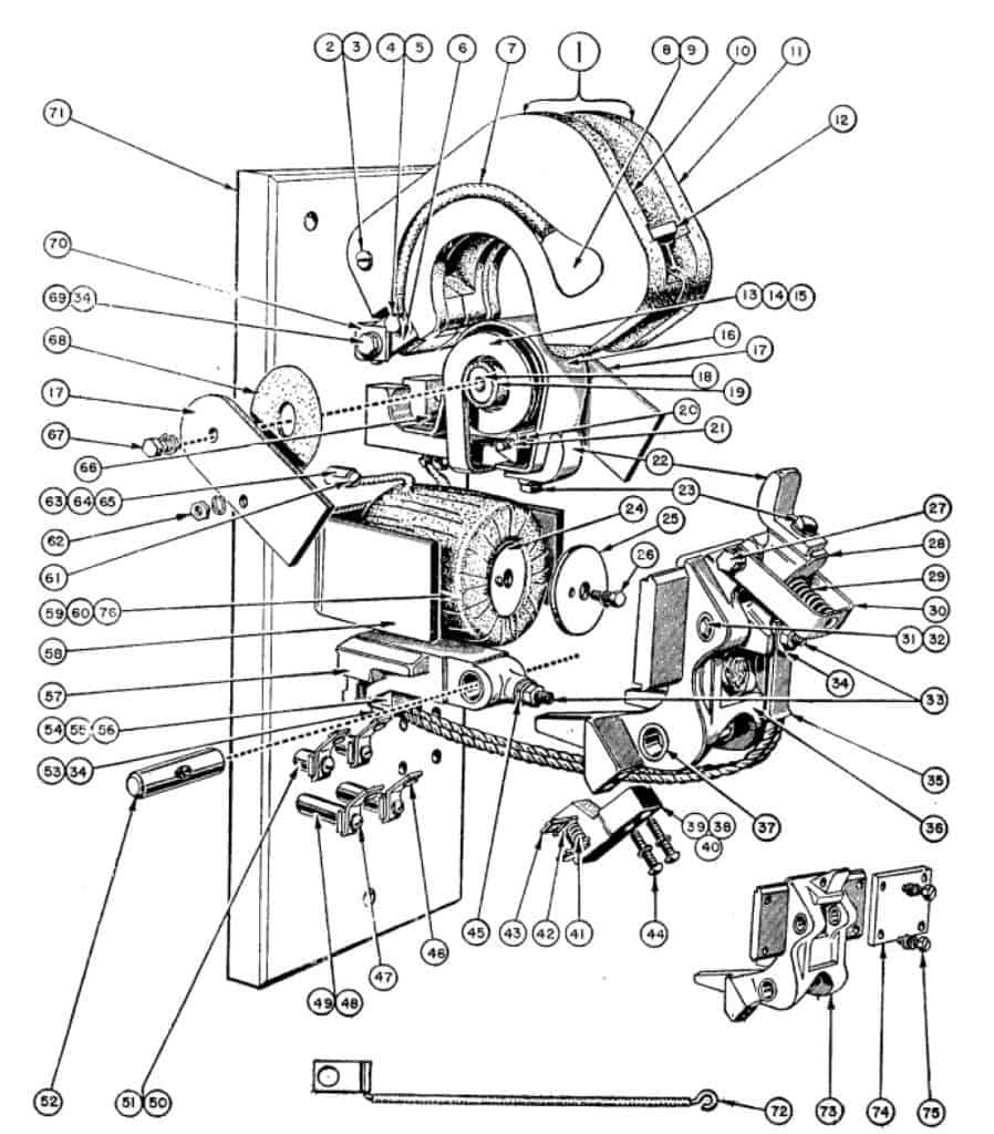 no  1 single pole type l line-arc contactor  folio 3