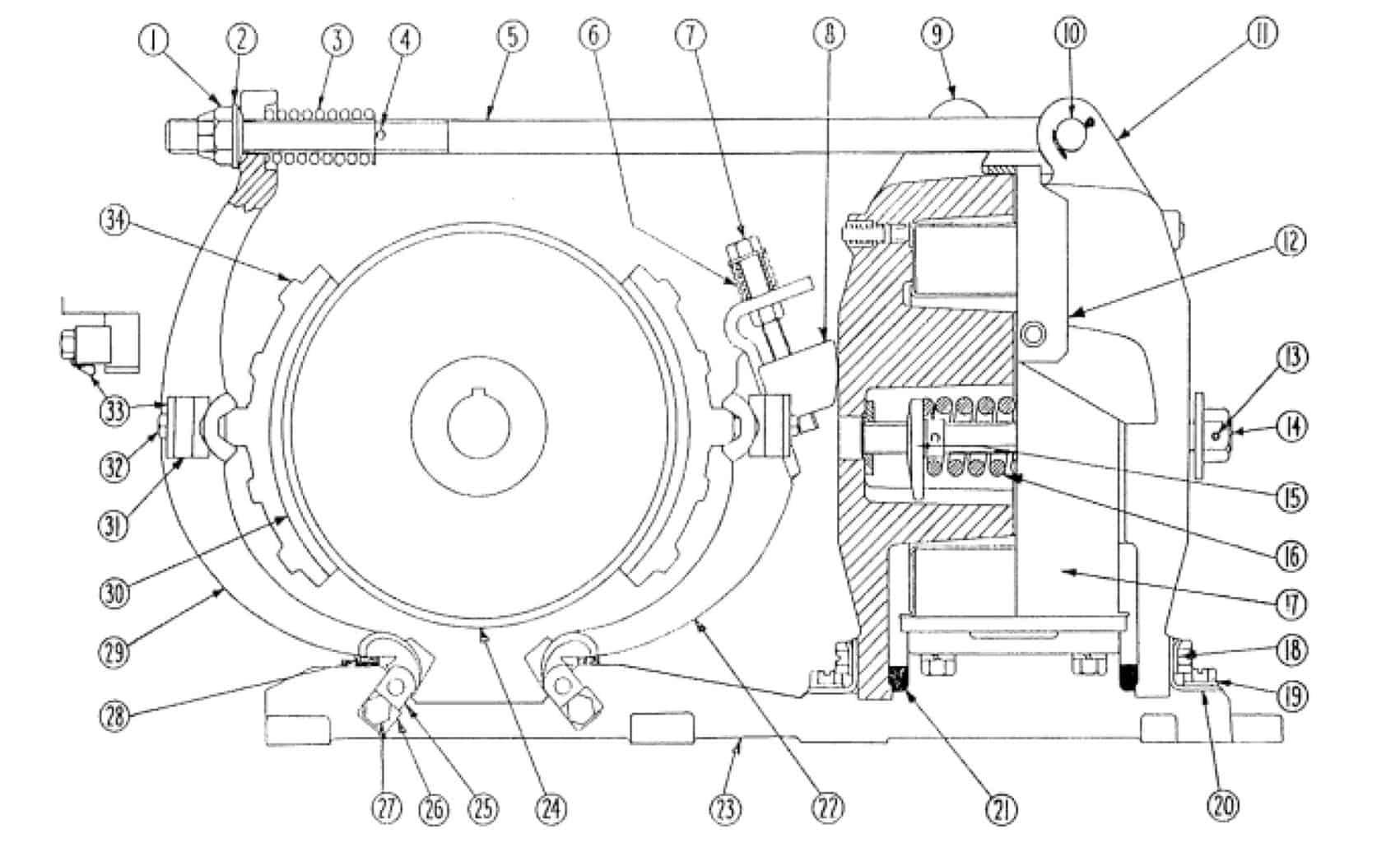 No. 505 10 D-C Magnetic Brake