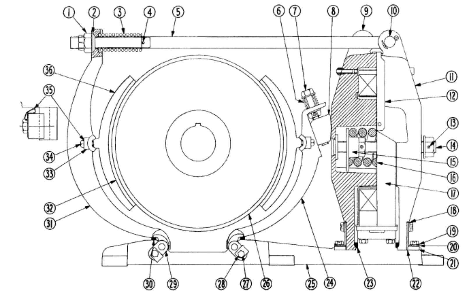 No. 505 16 D-C Magnetic Brake