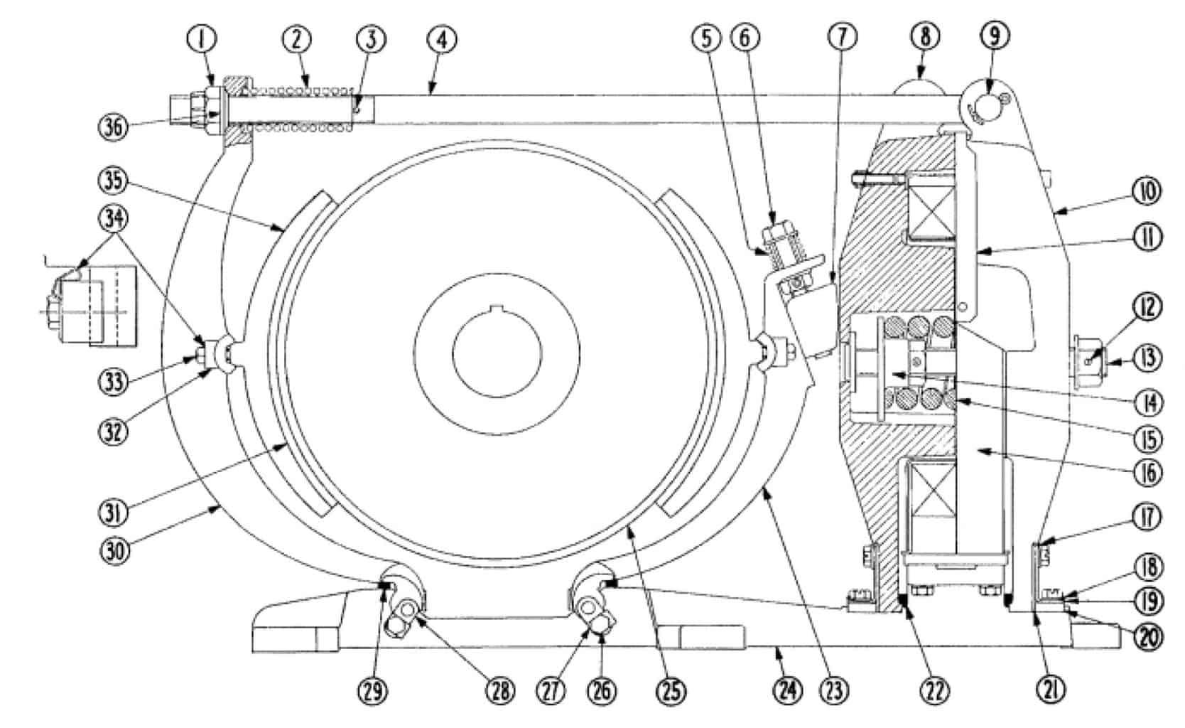 No. 505 19 D-C Magnetic Brake