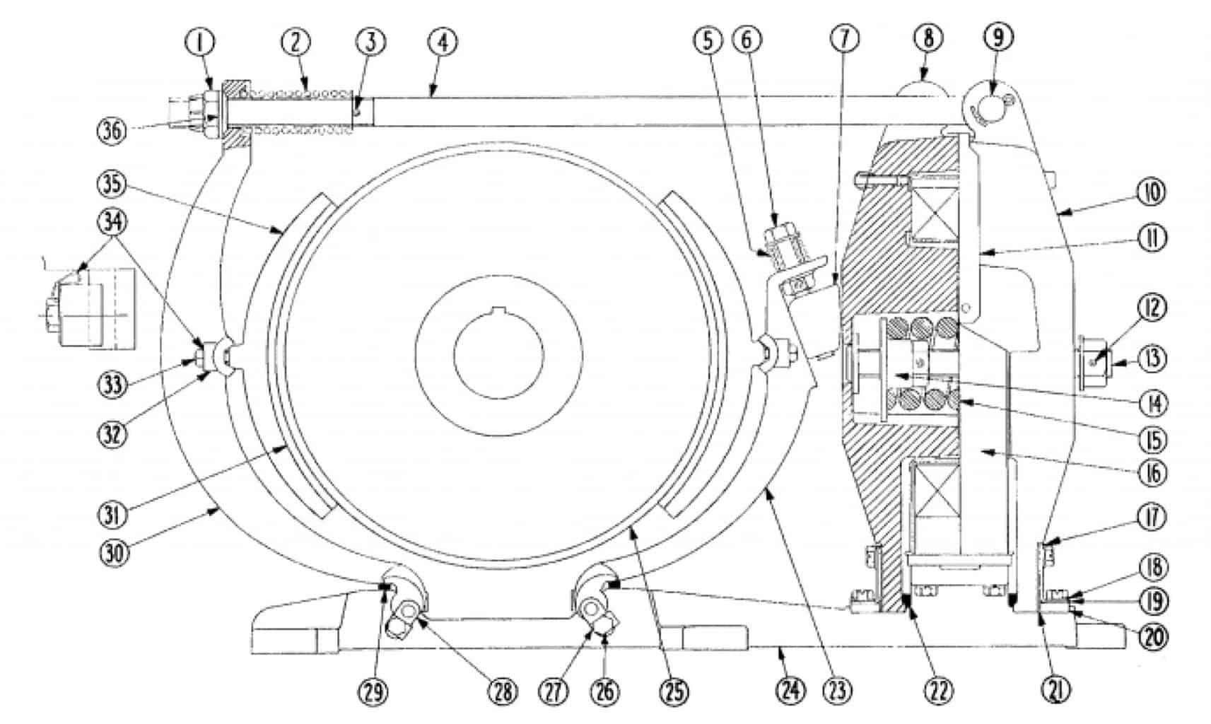 No. 505 23 D-C Magnetic Brake
