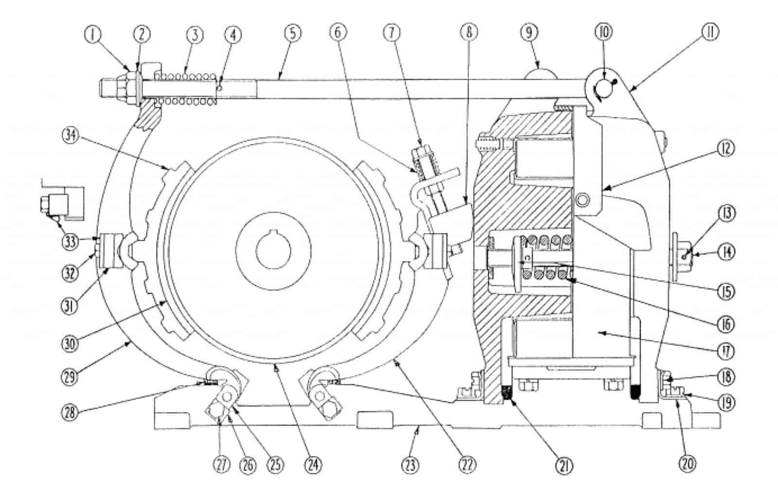 No. 505 8 D-C Magnetic Brake
