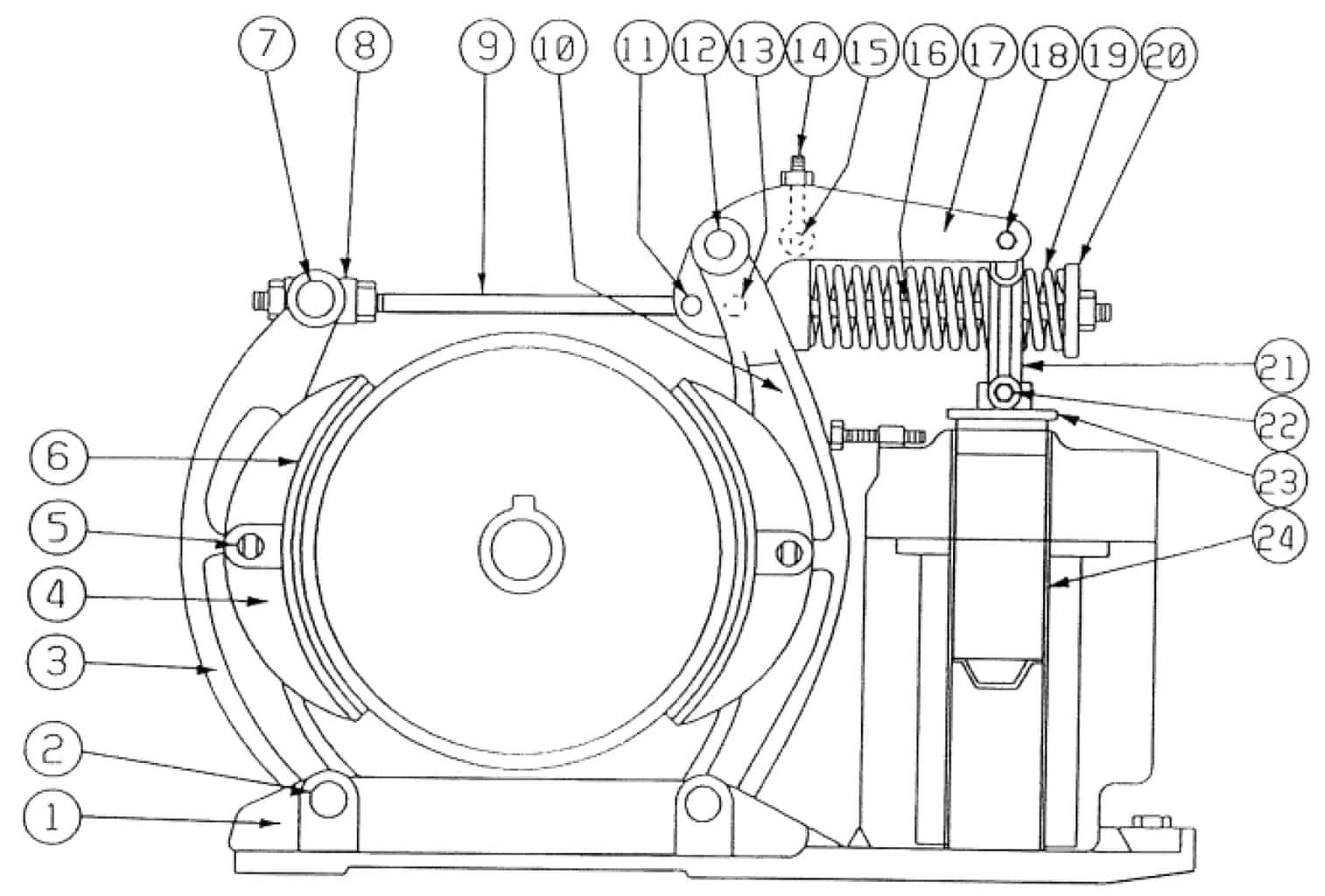 TYPE DI 135-F MAGNETIC BRAKE