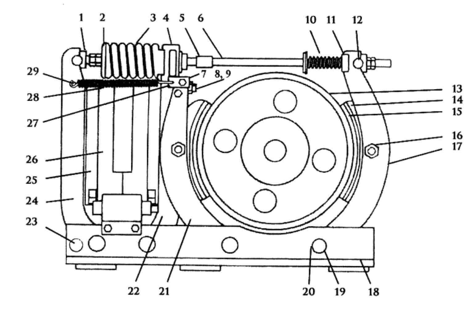 TYPE TM-1355 MAGNETIC SHOE BRAKE