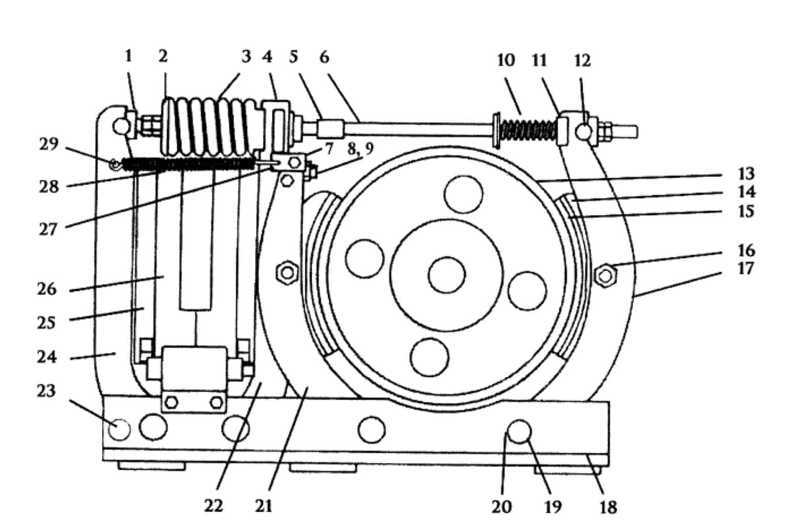 TYPE TM-1665 MAGNETIC SHOE BRAKE