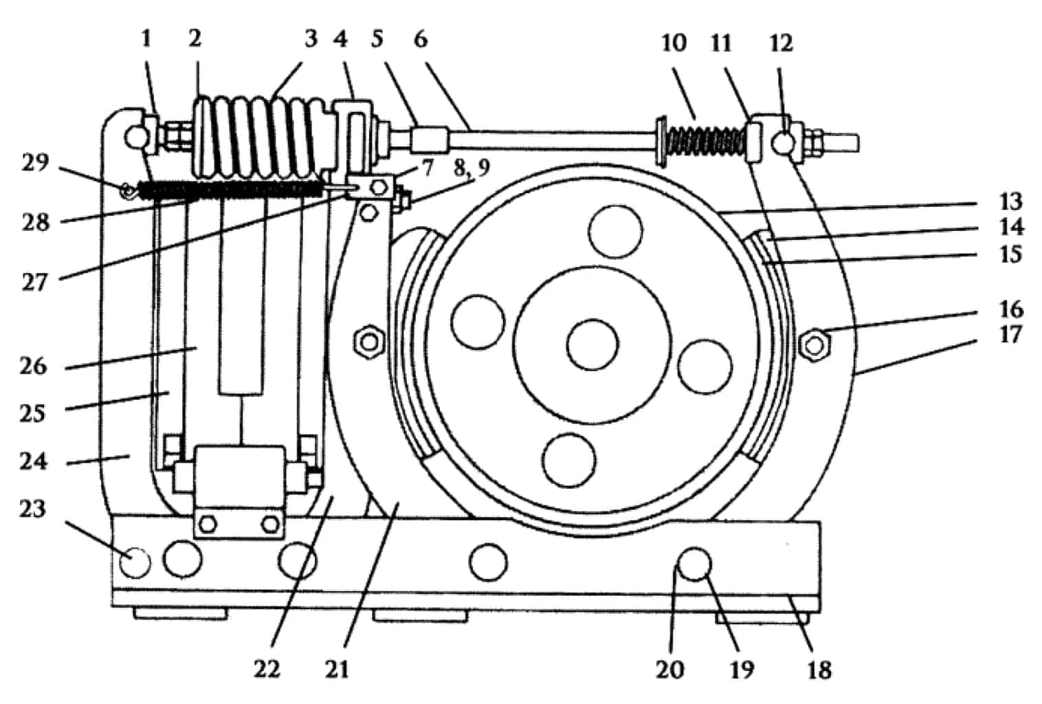 TYPE TM-3014 MAGNETIC SHOE BRAKE